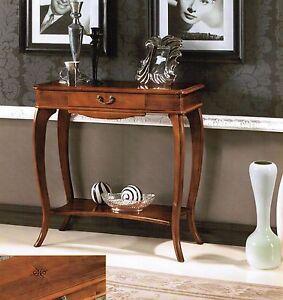 Consolle ingresso soggiorno classica in vari colori con for Consolle classiche