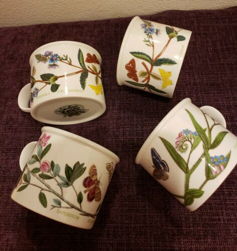 Set of 3 perfect Portmeirion 1972 The Botanic Garden Tea Coffee Cups Vintage