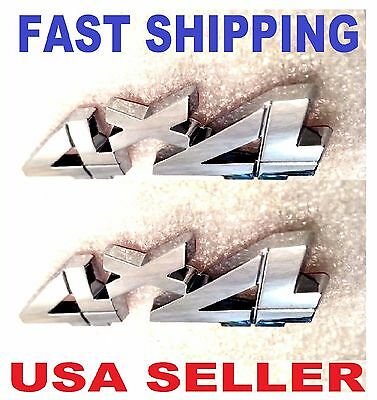 X2 Chrome 4 X 4 Emblem 4X4 Car Truck Lincoln Saturn Ram Logo Decal Sign Badge 3D