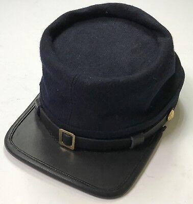 CIVIL WAR US UNION INFANTRY NAVY BLUE WOOL KEPI FORAGE CAP HAT-LARGE Civil War Union Kepi
