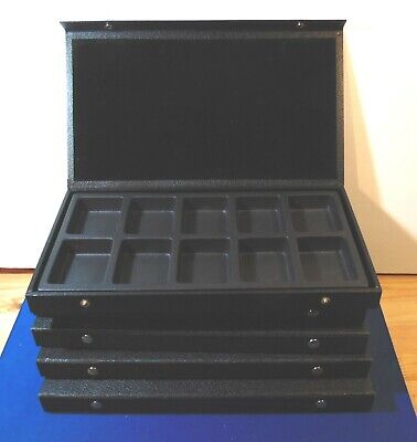 Lot Of 5 Pocket Watch Or Jewelry Display Cases Organizer For Small Items Parts