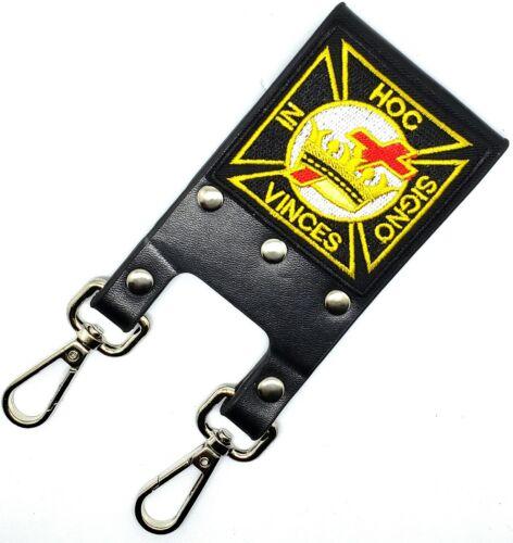 Knight Templar Masonic Belt Sword Scabbard Holder HOC SIGNO VINCES