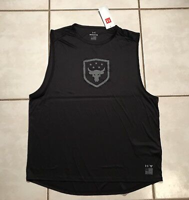 UNDER ARMOUR PROJECT ROCK Brahma Bull Tank Top MADE IN USA 1328340 Men's Large