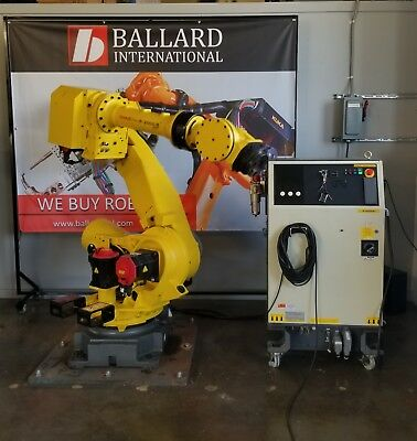 Fanuc R-2000ib 210f Robot System Complete With R30ia Cabinet - Low Hours
