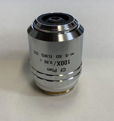 Nikon Cf Plan 100x0.80 C Bd Dic Elwd Microscope Objective Lens 0