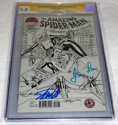 Amazing Spider-Man Renew Your Vows #2 CGC SS Dual Signature Black Cat STAN LEE