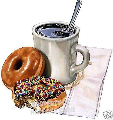 Coffee Donuts Decal 14 Food Truck Concession Restaurant Cart Vinyl Sticker