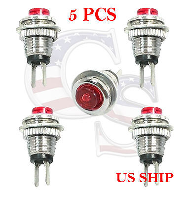 Red 5Pcs M3 Mini Momentary On/Off Lockless Micro Push Button SPST Switch