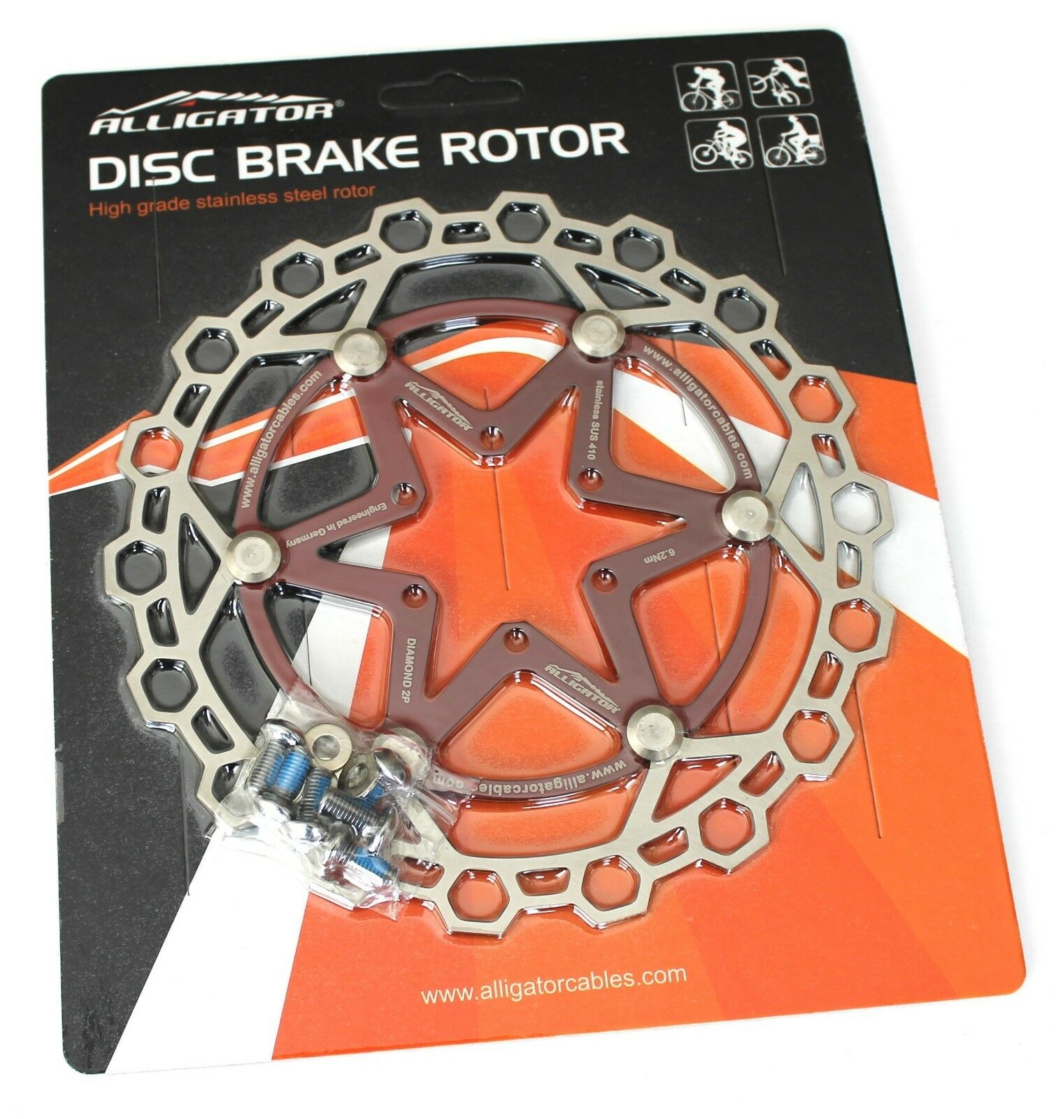 The World/'s lightest Floating Disc brake rotor 72g 160mm Red vs Ashima Hope