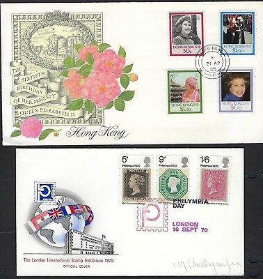 UK GB HONG KONG GRENADA JERSEY BARBADOS 1960s 80s COLLECTION OF 12 BRITISH COMMO image