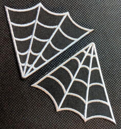 Spider Web Collar Set Spider Webs Embroidered Biker Patch