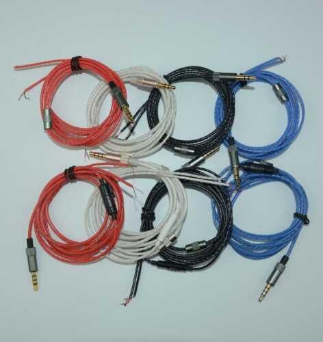3.5mm Jack DIY Earphone Headphone Audio Cable Repair Cord ...