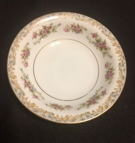 NORITAKE CHINA SOMERSET 5317 Coupe Soup Bowls Pink Rose Forget Me Nots - $5.49