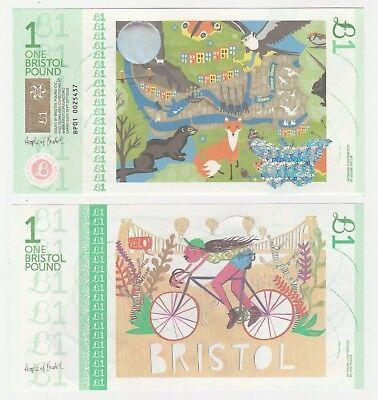 United Kingdom - Bristol 1 Pound 2015 UNC Local Currency Banknote - Fox Otter