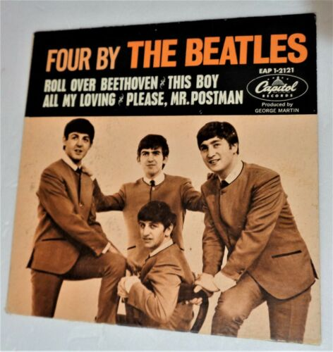 1964  Four  4 By The Beatles Capitol EP & Cover RARE