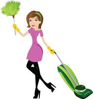Cleaning lady available for you now!