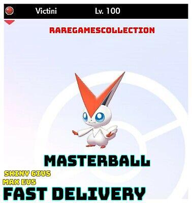 ✨SHINY✨ 6IV Victini Pokemon Sword Shield LEGENDARY 6IV FAST DELIVERY