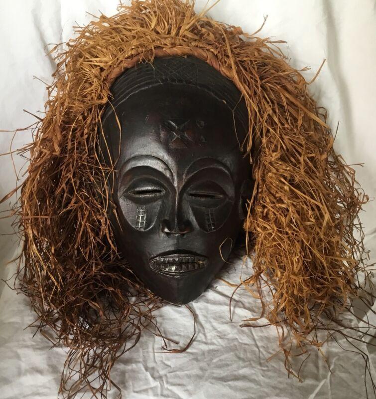 Vintage Chokwe Mwana Pwo Mask Headdress Africa Angola Congo Zambia Paperwork