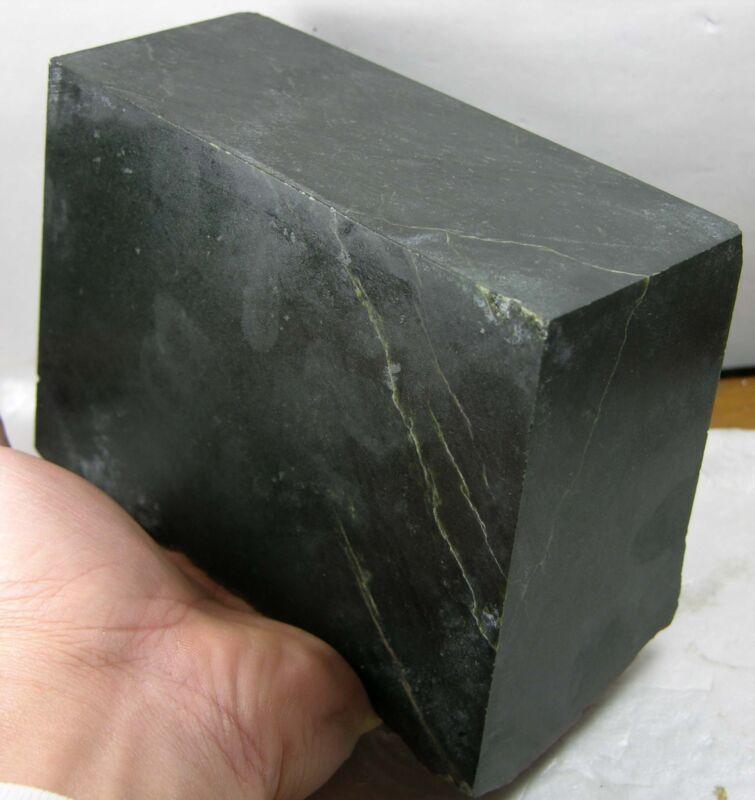 2380g Wyoming USA Natural Rough Blackish Green Jade Block Chunk Specimen 5.25lb