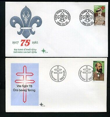 South Africa 1982 - 3 x different Unaddressed FDCs