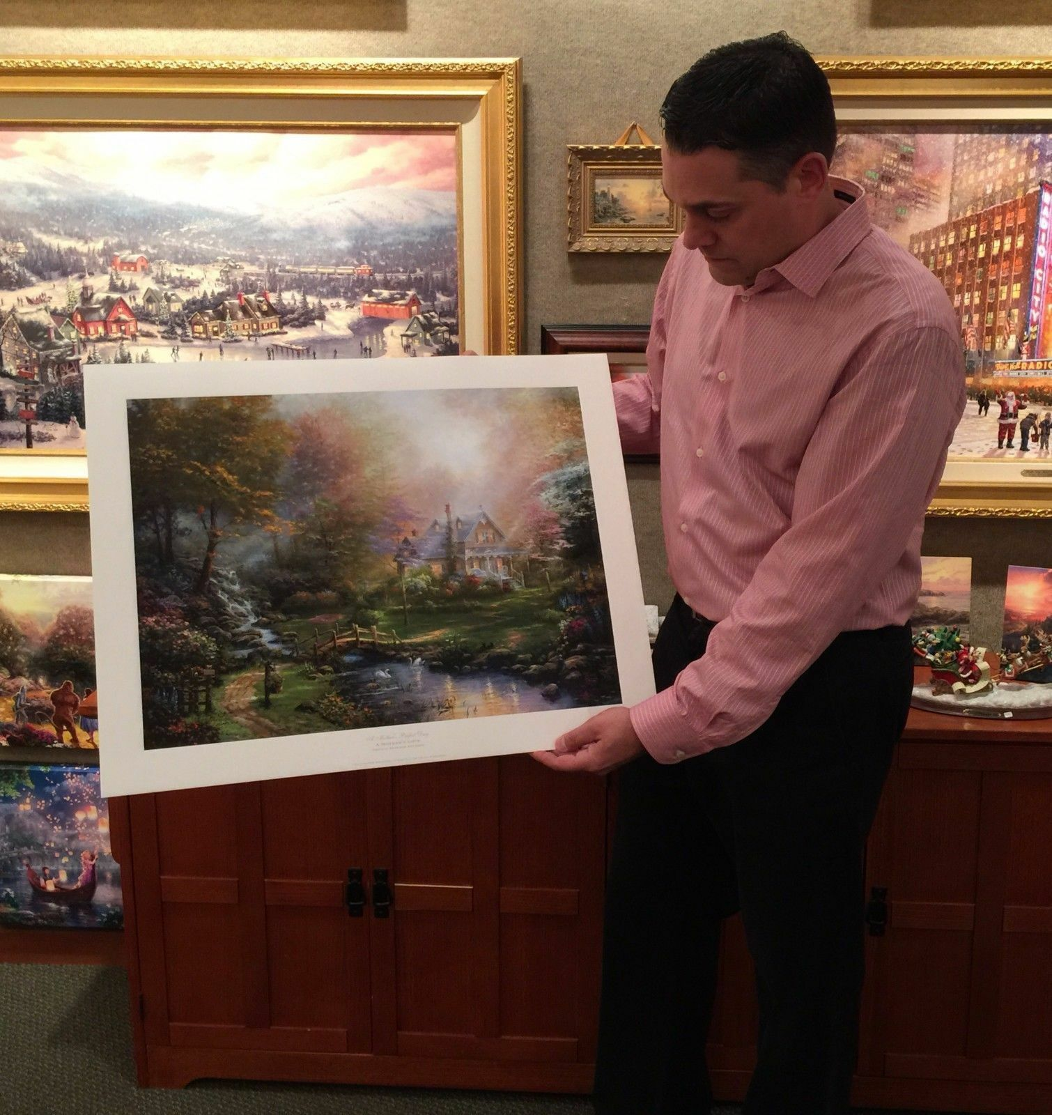 Thomas Kinkade Studios A Mother s Perfect Day 18 X 24 SN Limited Edition Paper - $230.00