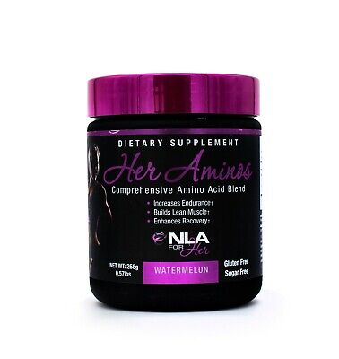 NLA For Her Aminos Comprehensive Amino Acid Blend 30 Servings Best by (Amino Blend Powder)