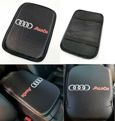 "For AUDI Racing Car Center Console Armrest Cushion Mat Pad Cover 11.75"" X 8.5"""