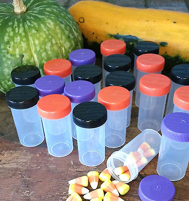 20 Clear Plastic Tube Bottle Halloween Party Candy Nut Favor JARS 3814 DecoJars](Halloween Craft Jars)