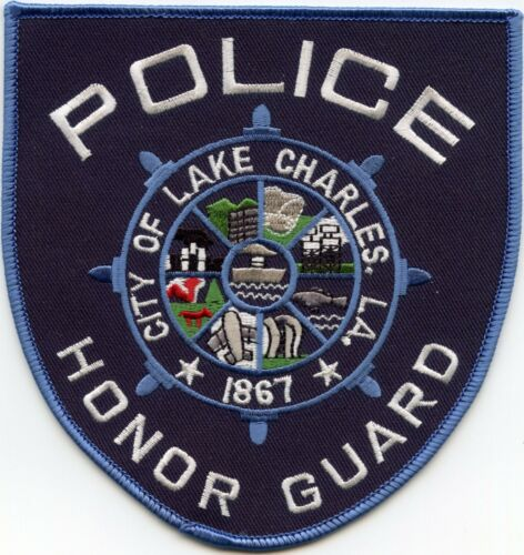 LAKE CHARLES LOUISIANA Very Large Horse Blanket Style HONOR GUARD POLICE PATCH