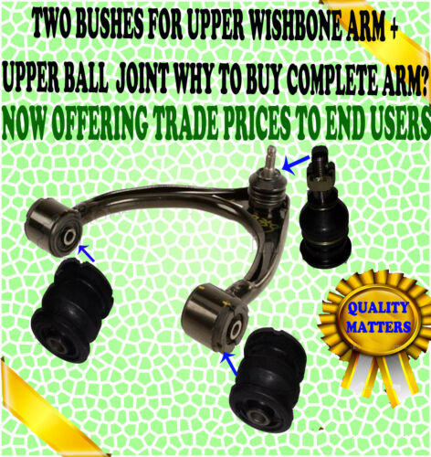 FITS IS200 IS300 ALTEZZA FRONT UPPER SUSPENSION WISHBONE ARM BALL JOINT + BUSH