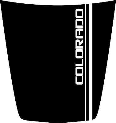 Hood Decal w/ Colorado 2 stripe for a 2015-2019 Chevrolet Colorado