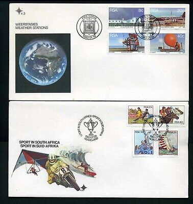 South Africa 1983/84 - 4 x different Unaddressed FDCs