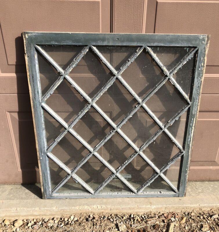 Antique Diamond Window