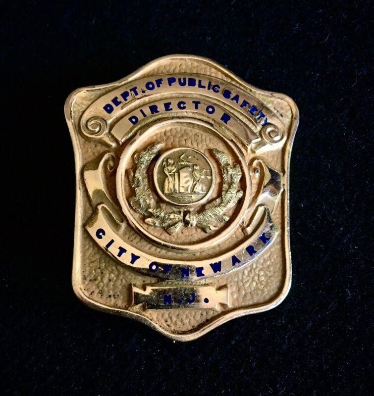 PRESENTATION BADGE DIRECTOR OF PUBLIC SAFETY NEWARK NEW JERSEY NJ FDNY NYFD NYPD