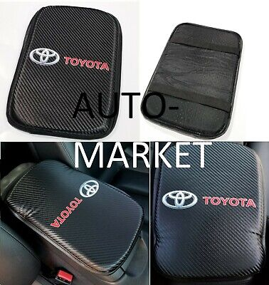 For Toyota Racing Carbon Car Center Console Armrest Cushion Mat Pad Cover X1 2003 Toyota Matrix Xrs