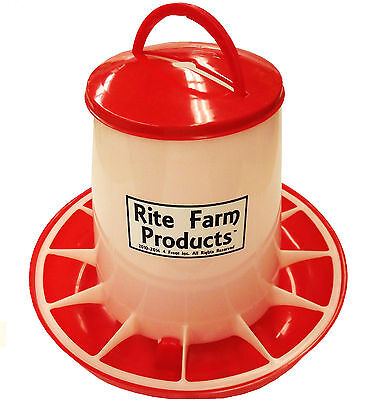 Large Rite Farm Products Hd 13.2 Pound Chicken Feeder Lid Handle Poultry Chick