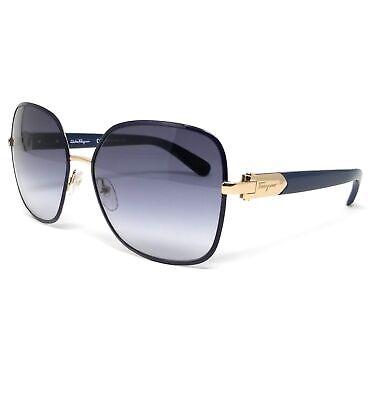 Salvatore Ferragamo Sunglasses SF150S 727 Light Gold-Blue Women's (Blue Sunglasses Women)