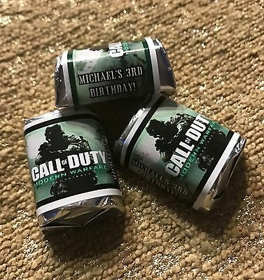 CALL OF DUTY MODERN WARFARE HERSHEY'S NUGGET WRAPPERS BIRTHDAY PARTY FAVORS (Call Of Duty Birthday Party)
