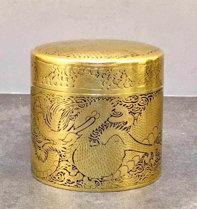 Japanese Meiji Komai Style Gold Inlaid Natsume Box