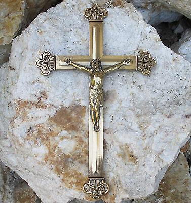 Wandkreuz Kreuz Jesus Korpus Hergott  Kruzifix Christuskorpus Messing Gold