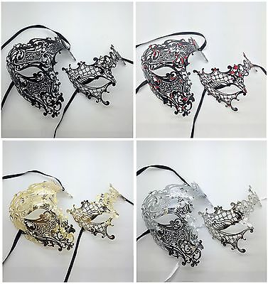Passend Phantom Herren Damen Paar Liebhaber Venezianische Maskerade - Paar Maskerade Masken
