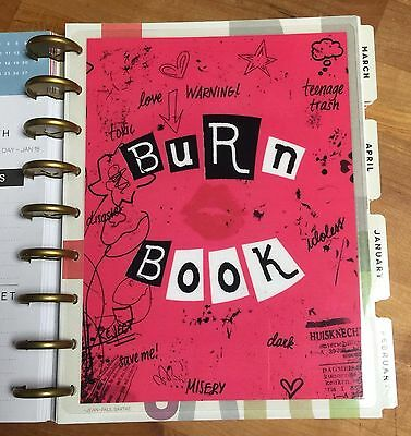 Mean Girls Inspired Burn Book 2 Sided Dashboard 4 Use With Happy Planner