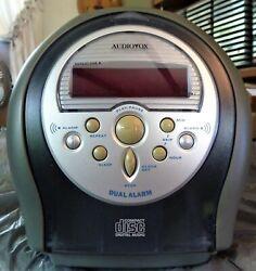 AUDIOVOX Clock Radio AM-FM Snooze with CD Player *read*