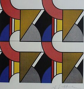 Roy Lichtenstein Modular Painting with Four Panels w Mat ...