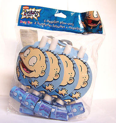 Nickelodeon Rugrats Party Favors 8 Medallion Blow-outs W/ Tommy Pickles
