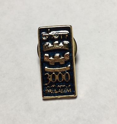 Vintage Jerusalem 3000 Israel Pin Collectible Hebrew Judaism Holly Land 1995