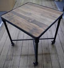 New Industrial Metal Rustic Recycled Timber Coffee Side Tables Melbourne CBD Melbourne City Preview
