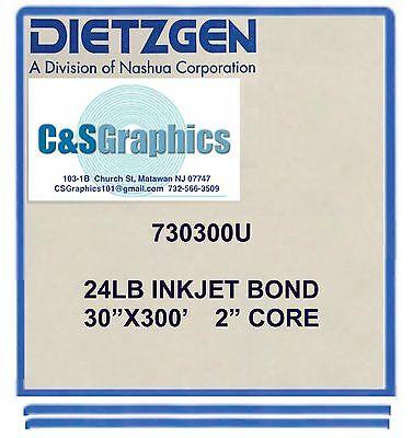 2 Rolls 30 X 300 24lb Bond Plotter Paper