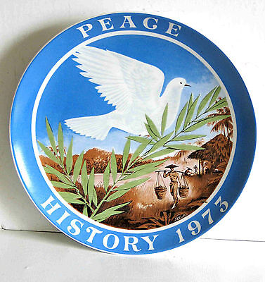 "PEACE HISTORY 1973 Vietnam Seven Seas Traders Plate 7.75"" W GERMANY  FREE SH"