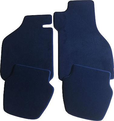 Citroen DS 5 Fußmatten Velours  schwarz mit Rand weiß und Halter